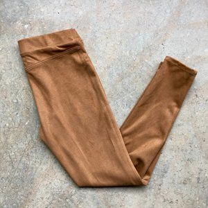 Micro Suede Pull On Leggings Pants Boho Small
